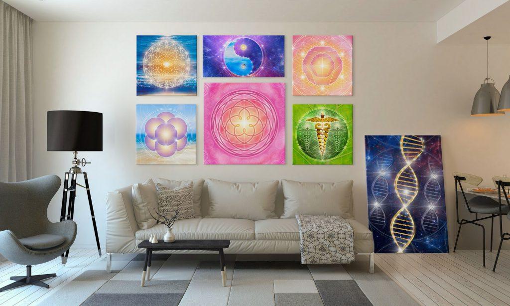 Heilige Geometrie, Bilder auf Leinwand oder als Poster, Blume des Lebens
